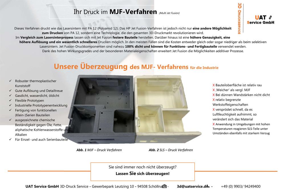 MJF Verfahren 3D Druckservice Urmann